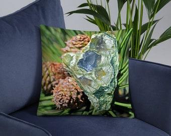Heart Stone Throw Pillow - Accent Couch Pillow - Photo Art Toss Pillow