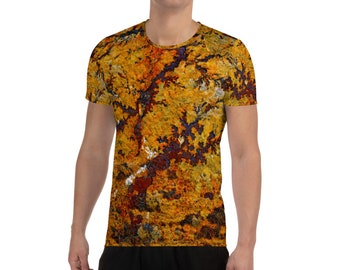 Stone Rock Men's Athletic T-shirt, Abstract and Rugged