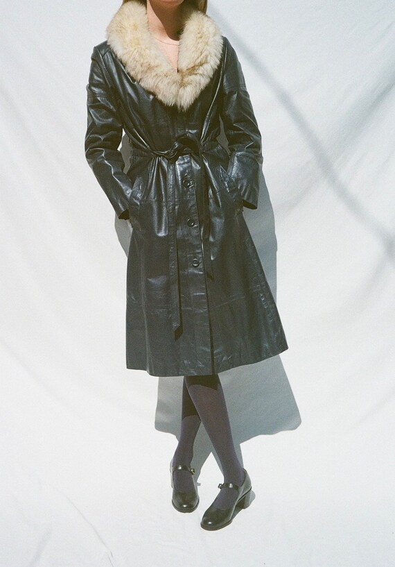 Blue Leather Montgomery Ward Jacket with Removabl… - image 2