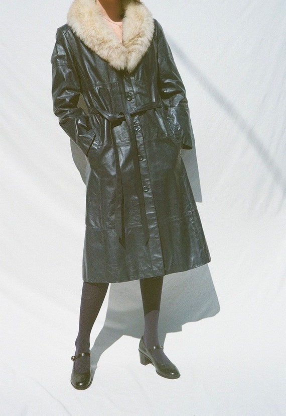 Blue Leather Montgomery Ward Jacket with Removabl… - image 8