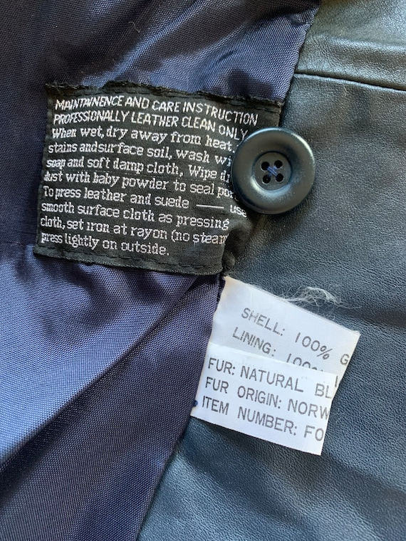 Blue Leather Montgomery Ward Jacket with Removabl… - image 6