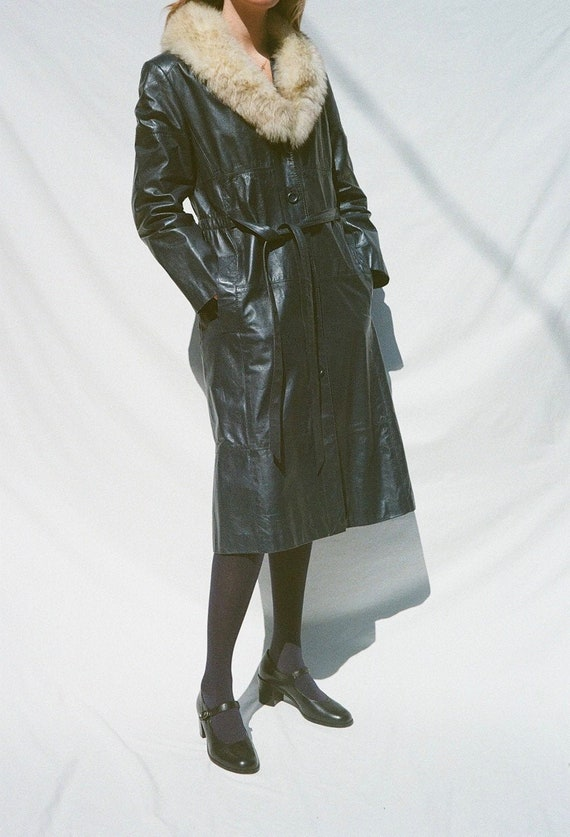 Blue Leather Montgomery Ward Jacket with Removabl… - image 1