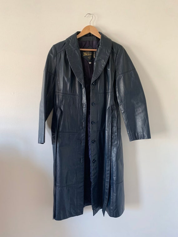 Blue Leather Montgomery Ward Jacket with Removabl… - image 4
