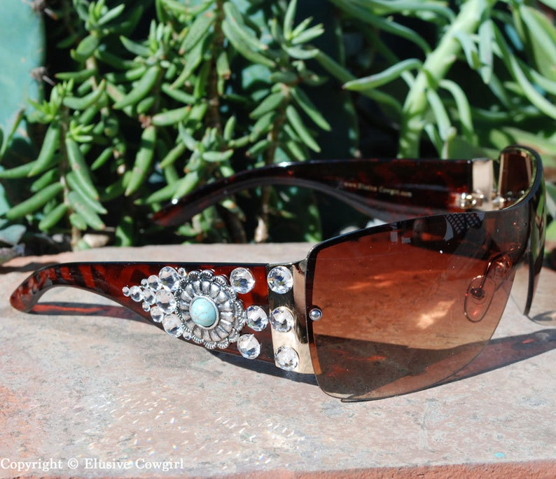 a8de253f49bc Western Sunglasses Cowgirl Sunglasses Brown Sunglasses