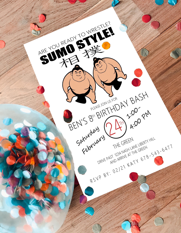 Sumo Wrestling Party Invitation | Etsy