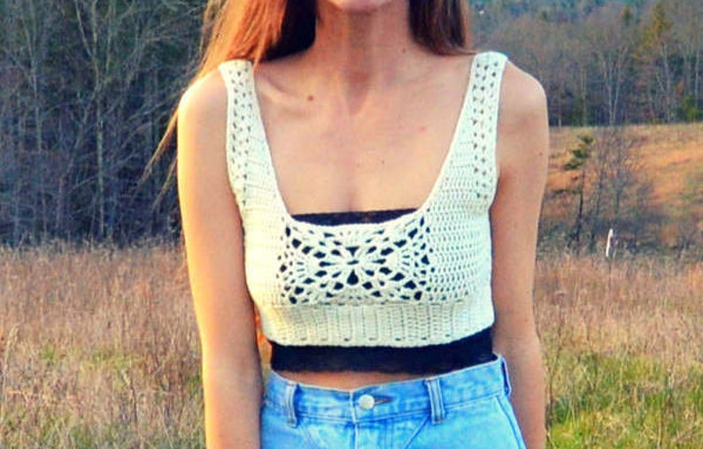 Crochet Crop Top Pattern  Astral image 0