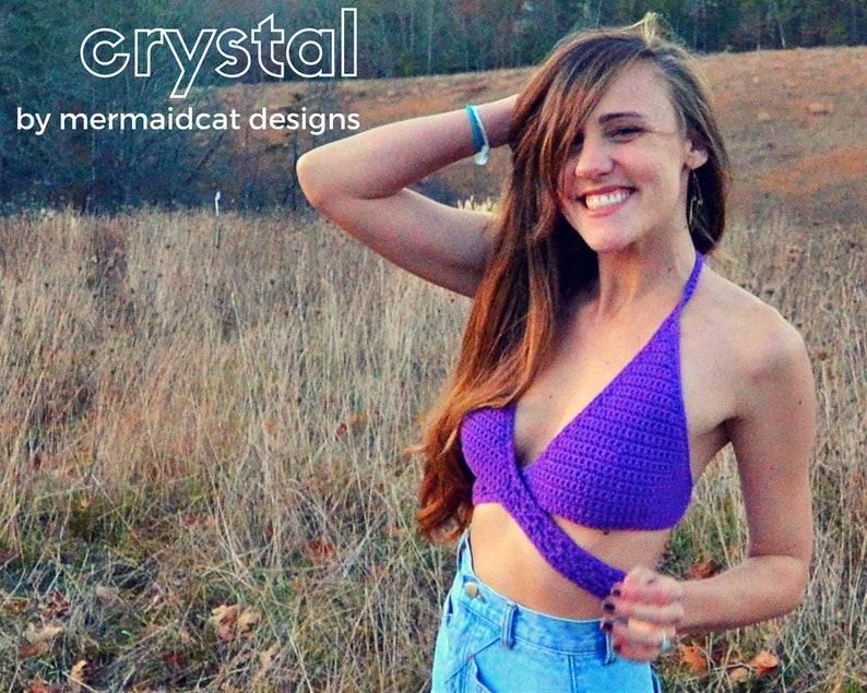 Crochet wrap bikini top pattern Crystal image 0