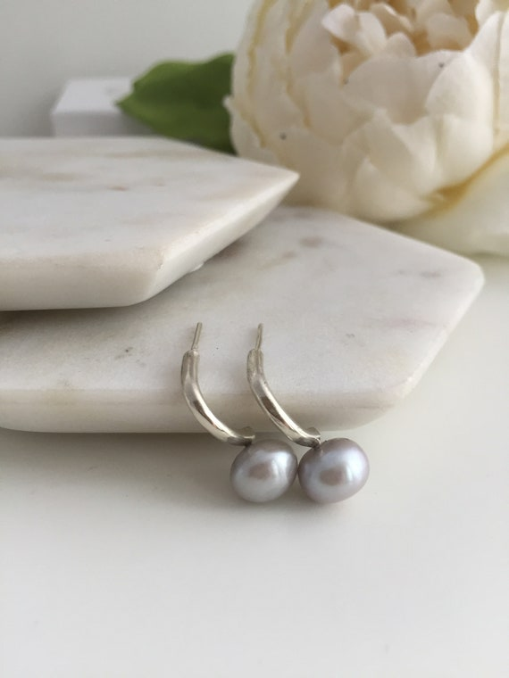 Details about  /Arizona Turquoise /& Pearl Dangle Earrings w// 925 Sterling Silver USA