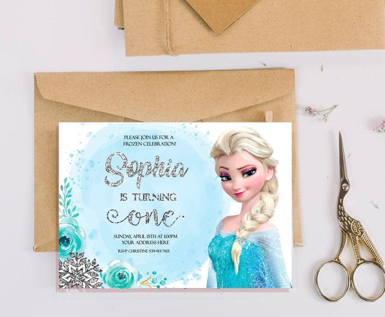 Elsa Birthday Invitation Elsa Invitations Elsa Birthday Etsy