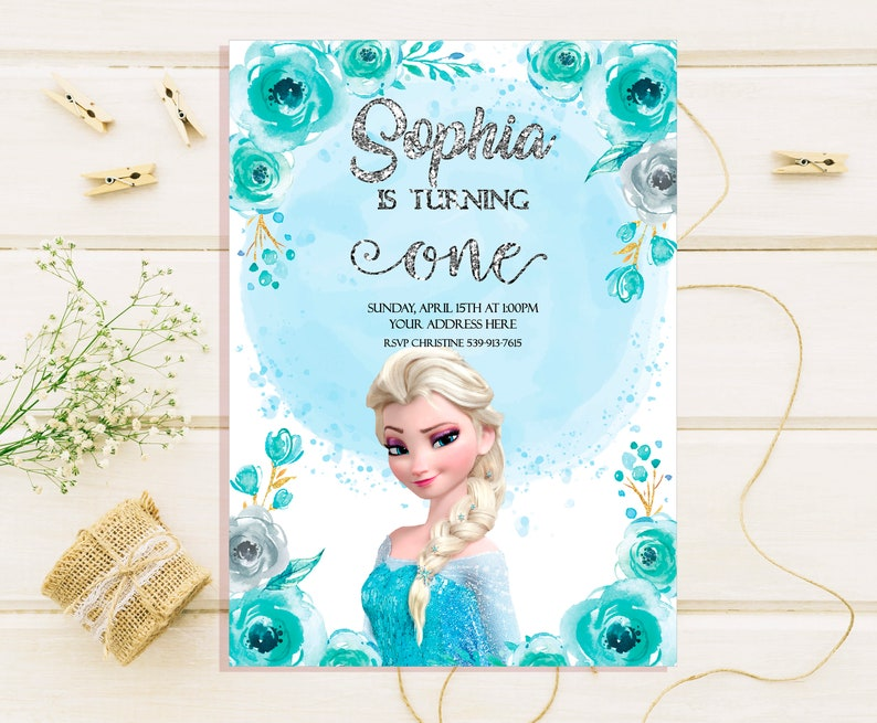 Frozen Birthday Invitations Elsa Birthday Invites Elsa Etsy