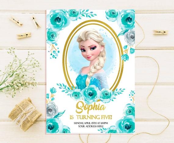 Elsa Birthday Invitations Elsa Birthday Party Invites Elsa Invitations Frozen Birthday Invitations Frozen Invitations Frozen Invites