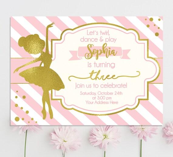 Ballerina Invitation Birthday
