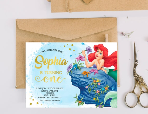 The Little Mermaid Birthday Invitation