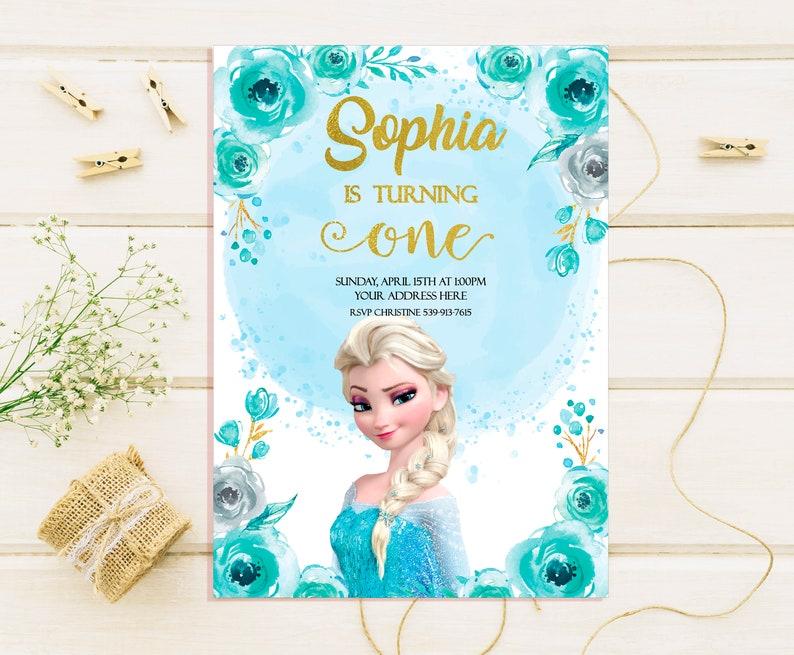 Frozen Birthday Invitations Elsa Invites Anna Disney Party Invitation Winter