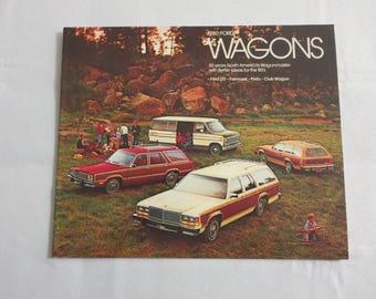 1979 FORD FAIRMONT GHIA SALES BROCHURE BOOK CATALOG