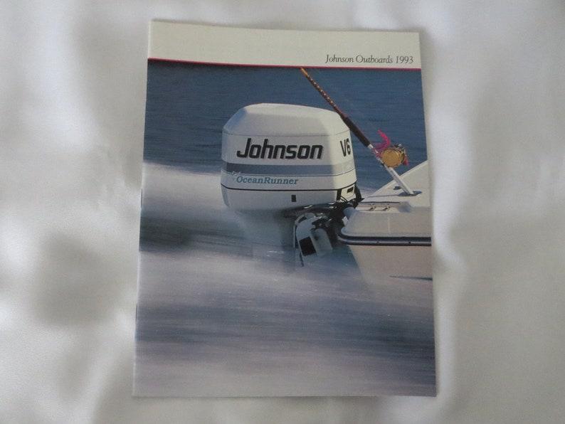 1993 Johnson Boat Outboard Sales Brochure Catalog V8 V4 V6 Compact Twin +