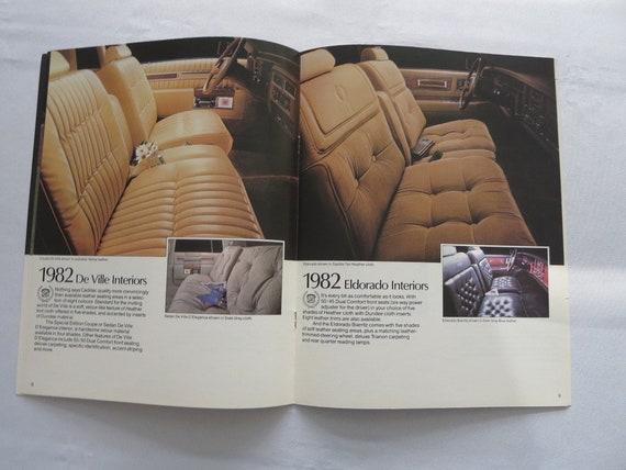 1982 Cadillac Sales Brochure Catalog Eldorado Seville DeVille Cimarron  Fleetwood Brougham