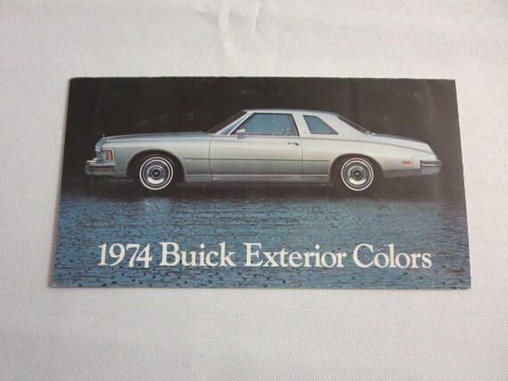 1974 buick apollo wiring diagram 1974 buick exterior color sales brochure catalog lesabre etsy  exterior color sales brochure catalog