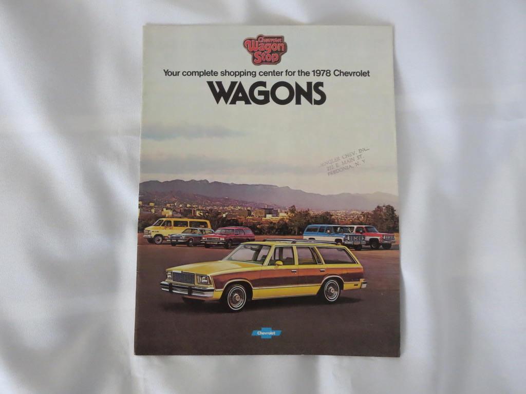 1978 Chevrolet Station Wagon Sales Brochure Catalog Caprice Etsy Camaro Zoom