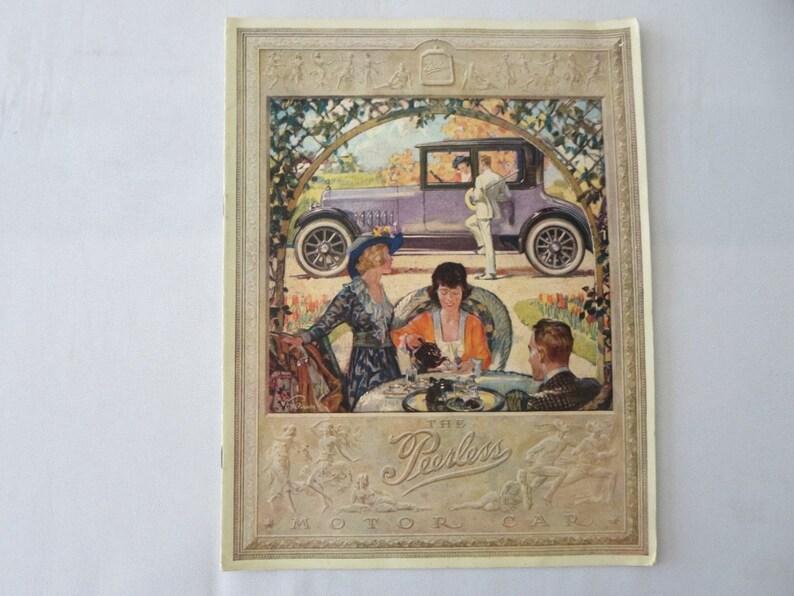 1928 Peerless Sales Brochure Catalogue Sedan Limousine Vintage image 0