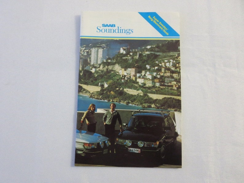 1981 Saab Soundings Factory Magazine Brochure Turbo Rallying Scania Truck +