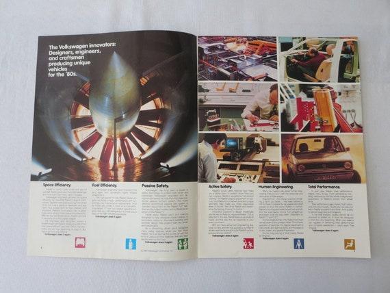 Convertible 1980 VW Volkswagen Rabbit 16-page Car Sales Brochure Catalog