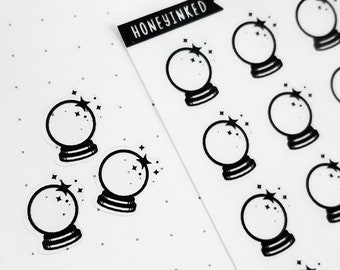42 Crystal Ball Planner Stickers Crystal Ball Stickers