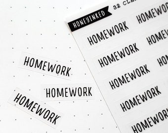 Homework Stickers for Planners | School Stickers