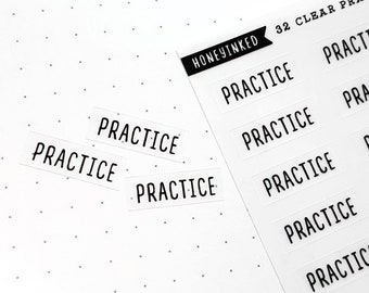Practice Stickers for Planners | Practice Planner Stickers