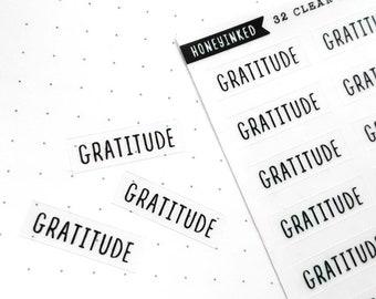 32 Gratitude Stickers for Planners | Gratitude Stickers