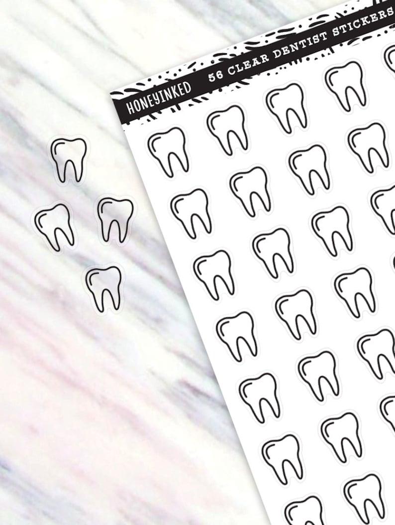 56 Dentist Planner Stickers Dentist Stickers Teeth Stickers image 0