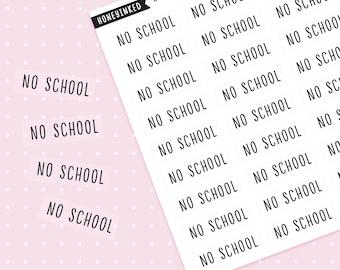 36 No School Planner Stickers Halfday Stickers College  Planner Stickers School Stickers Planner Stickers School MSFX