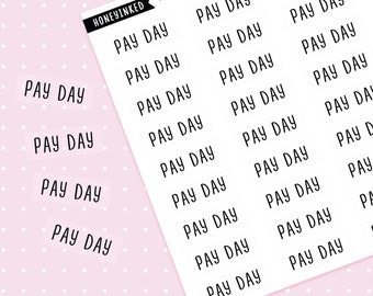 36 Pay Day Planner Stickers | Pay Day Stickers Transparent Stickers Payday Stickers Planners, Payday Stickers Bullet Journal Stickers MSFX