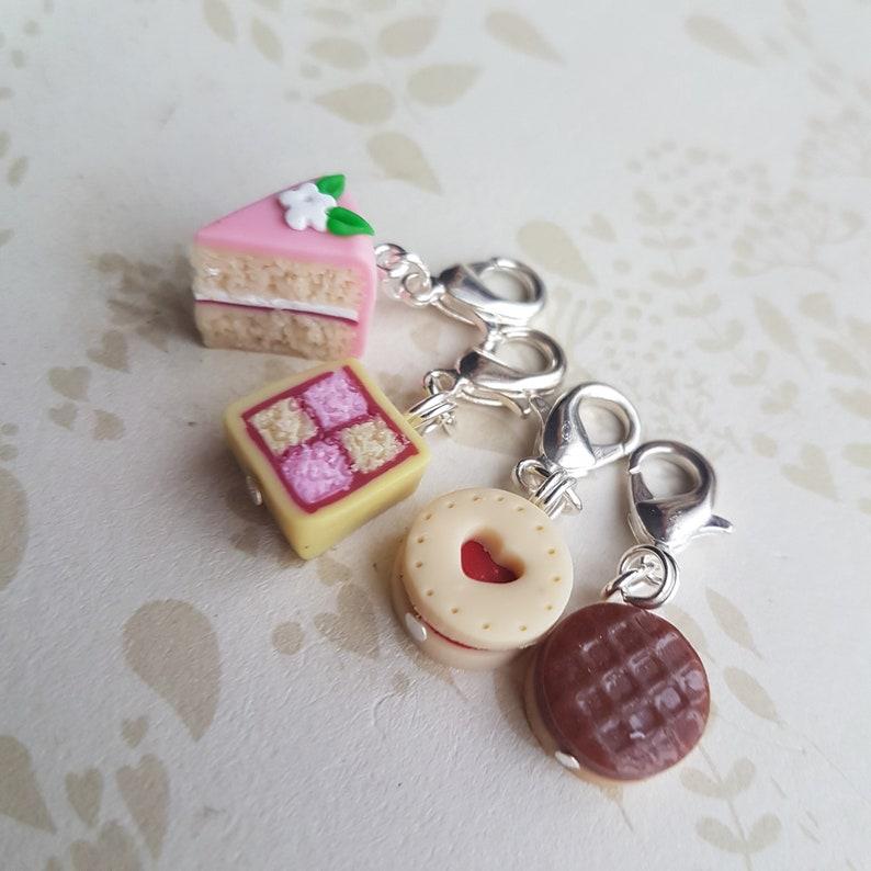 Cake stitch markers for knitting novelty  stitch markers image 0
