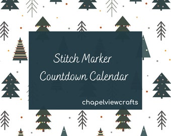 Stitch Marker Advent Countdown Calendar, Polymer Clay Knitting Notions with a Cake and Biscuit Theme
