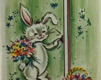 1940/'s Repro Easter Quilt Cotton Fabric OOP Darling Easter Bunnies Spring Delights Easter Eggs Jelly Beans OOP Sew Collectible Quilt Doll