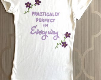 Practically Perfect in Every Way Girls' Fitted T-shirt