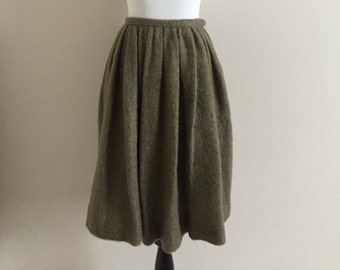 "Vintage Taupe Mohair Bubble Skirt / 1950's-60's / Junior House / Women's Size 4, Small, 26"" Waist"