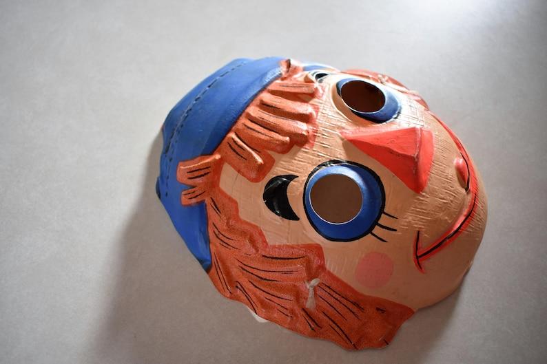 Vtg Raggedy Andy Halloween Mask