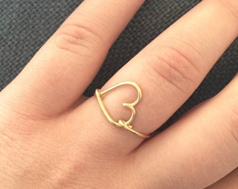 Sweetheart Gold Wire Ring