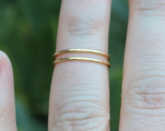 Dainty Double Wrap Gold Wire Knuckle Ring