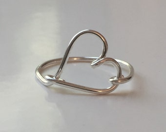Sweetheart Silver Wire Ring