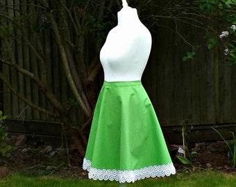 Knee Length Skirt, Circle Skirt, Cotton Skirt, 50s Style Skirt, Full Circle Skirt, Floral Skirt, 50s Style Skirt, Full Skirt, 50s Skirt, 8