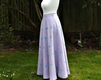 Linen Maxi Skirt, Maxi Linen Skirt, Circle Skirt, Full Circle Skirt, 50s Style Skirt, Purple Linen, Womens Full Skirt, Long Maxi, Full Skirt