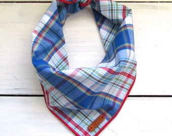Royal Blue Plaid Dog Bandana
