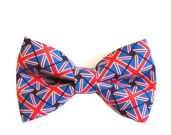 British Flag Union Jack Dog Bow Tie