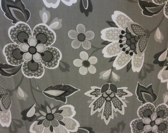 Gray Flowers and Vines-Baby/ Toddler Crib Sheet- Fitted Crib Sheet-Sheets- Bedding-Nursery-