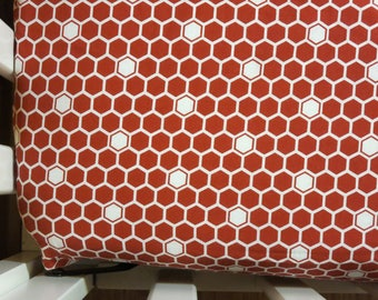 Red Honeycomb -Baby/ Toddler Crib Sheet-Fitted Crib Sheet-Sheets- Bedding-Nursery-