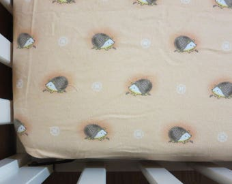 Flannel Hedgehogs  -Baby/ Toddler Crib Sheet-Fitted Crib Sheet-Sheets- Bedding-Nursery-