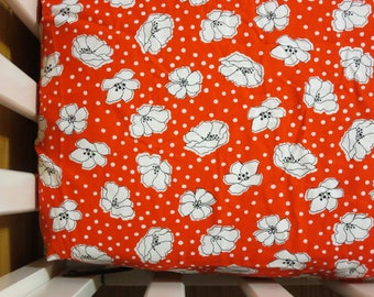 Red and White Poppies- Floral - Baby/ Toddler Crib Sheet-Fitted Crib Sheet-Sheets- Bedding-Nursery-